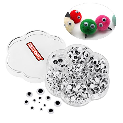BESTOMZ 700 Stück Wiggle Glubschaugen Wackelaugen mit Selbstklebende DIY Scrapbooking Handwerk Spielzeug Zubehör (Papier-puppe Handwerk)