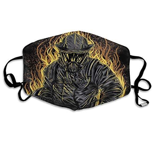 Monicago Masken für Erwachsene Unisex Dragon Skull Washable Polyester Anti Dust Mask - Reusable Safety Masks Mask for Running, Allergy,Flu,Protective Breath Healthy Safety Warm Windproof - Feuer Für Erwachsene Damen Kostüm