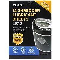Texet Shredder Lubricant Sheet (Pack of 12)