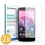 smartect LG Google Nexus 5 Panzerglas Folie [2 Stück] - Displayschutz mit 9H Härte - Blasenfreie Schutzfolie - Anti Fingerprint Panzerglasfolie