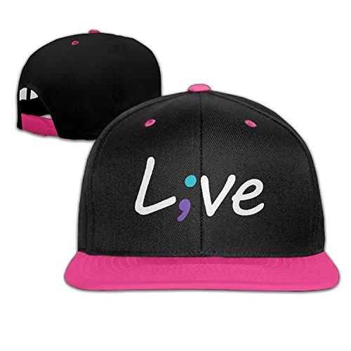 DD Decorative Funny Suicide Prevention Awareness Live Love Semicolon Sports Adjustable Baseball Cap Snapback Dad Caps for Men/Women
