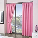 Louisiana Bedding Cortinas Lisas Color Rosa Listas para Colgar 46 x 54 (117 x 137cm)