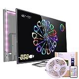 Pangton Villa (TM) RGB TV Hintergrundbeleuchtung USB LED Lichtleiste,Ausgelegt für 48'-50'Zoll TV / Flachbild,Dekoration, LED Streifen Beleuchtung (Hemmt die Ermüdung der Augen und erhöht dadurch die Bildschärfe )