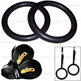 Protone gymnastic rings - bodyweight strength training system for home / gym / crossfit