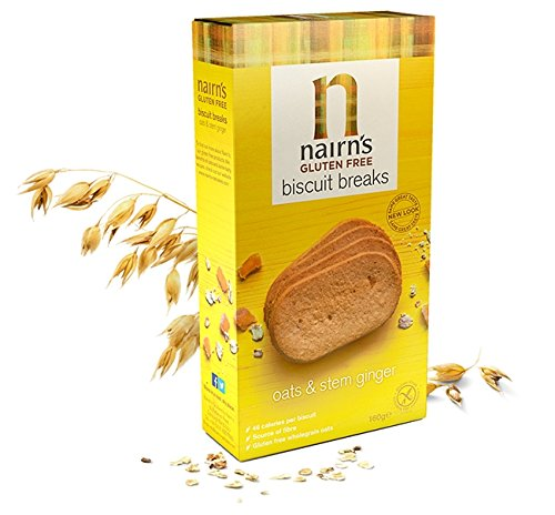 Nairns GF Biscuit Breaks Stem Ginger 160 g (order 12 for trade outer) -