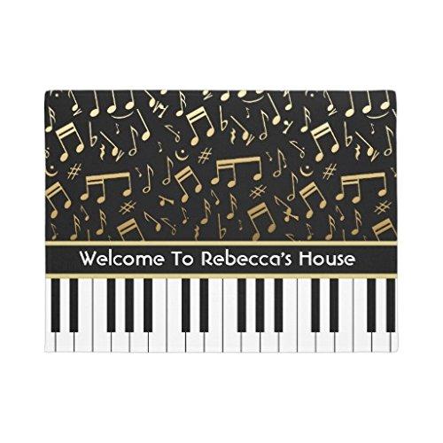 Felpudos Elegantes música notas Piano teclas Felpudo Welcome alfombri