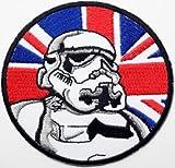 Imperial Star Wars Flagge Schwarz Bordüre bestickt Badge Patch zum Aufnähen oder Aufbügeln auf 7,5cm x 7,5cm