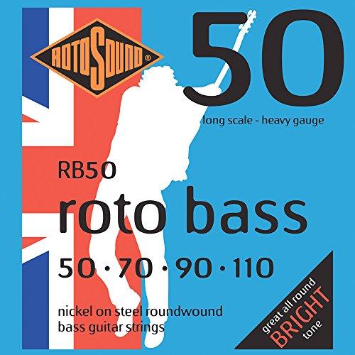Rotosound - Cuerdas para bajo eléctrico (entorchado redondo, calibres: 50 70 90...