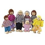 Schöne Mini-Oma Opa Modell Puppen-Kind-Mädchen Spielhaus Spielzeug