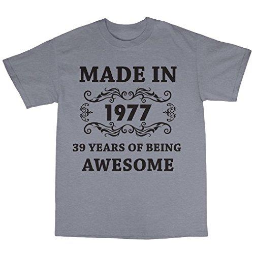 Made in 1977 T-Shirt Grau