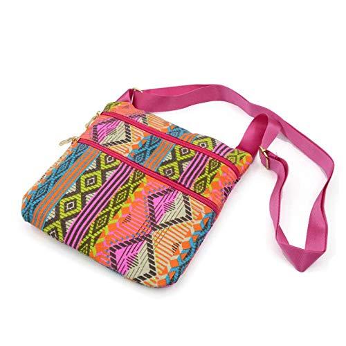 Gewebtetasche Strandtasche,Canvas Kleine Quadratische Tasche Umhängetasche Farbe