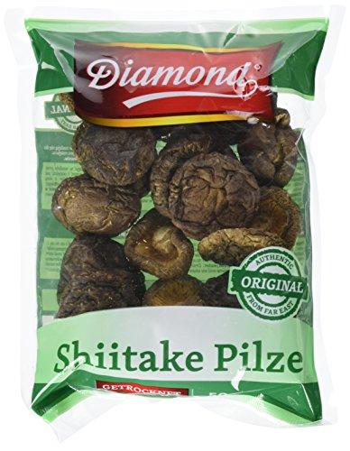 Preisvergleich Produktbild Diamond Shiitake / Tonko Pilze,  getrocknet,  50g,  4er Pack (4 x 50 g Packung)