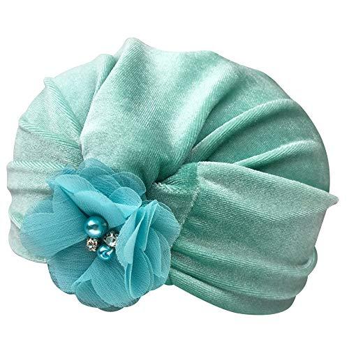 Hut, Mütze, Mint (Fuibo Baby Mütze, 1 Stück Neugeborenen Kleinkind Kinder Jungen Mädchen Blume Turban Beanie Hut Headwear Hut | Baby Mütze Beanie Keep Warm Hut Strickmützen (Mint Green))