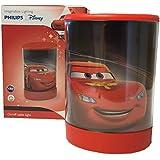 Philips Cars Tischleuchte LED Leuchte Lightning McQueen, Disney Pixar, Nachtlicht, Einschlafhilfe, Leuchte