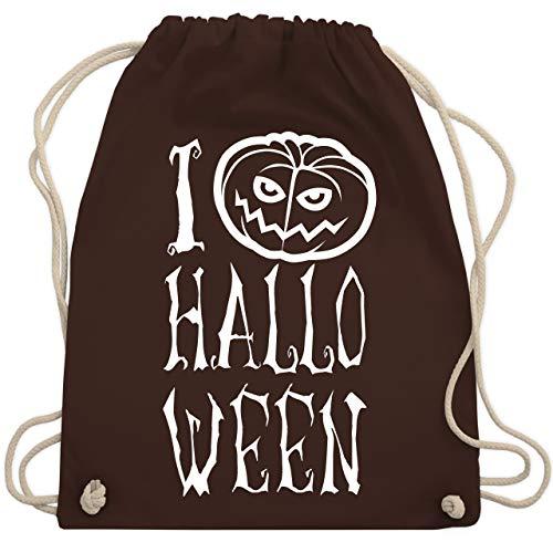 Halloween - I Love Halloween - Unisize - Braun - WM110 - Turnbeutel & Gym Bag (Halloween Taschen Bedruckte Individuell)