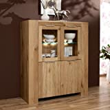 suchergebnis auf f r highboard wildeiche massiv geoelt k che haushalt. Black Bedroom Furniture Sets. Home Design Ideas
