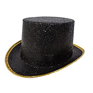 Dress Up America Sombrero de Copa Negro Adulto