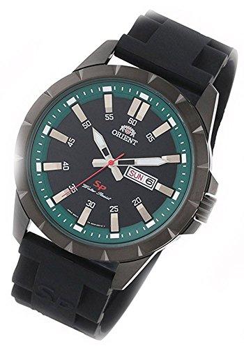 Orient Señor Reloj de pulsera Sporty verde Cuarzo Reloj caucho Día Fecha FUG1X 00AB9