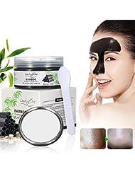 Blackhead Maske, Luckyfine Abziehmaske Bambus Holzkohle Remover Peel off Maske Gesichtsreinigung Schwarze Gesichtsmaske + 1pcs Spiegel und 1pcs Maske Werkzeug