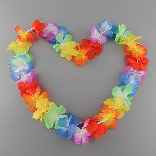 SOLEDI, 10 Stück, mehrfarbig, Hawaïen Zubehör Deko Party Plage Beach Party Sommer, Frühling (Les Kostüm Des Hommes)