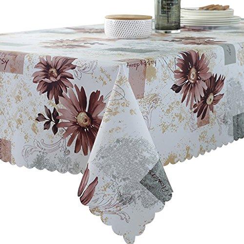 PVC Tischdecke 90x135cm Wasserdicht Anti-heiß Anti-Öl-Tisch Matten Tee Tisch Kunststoff Tischdecke (Farbe : Style 2)