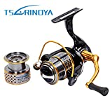 Zorbes TSURINOYA F2000 5:2:1 Gear Ratio Spinning Fishing Reel for Casting Lure Tackle