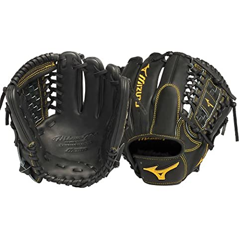 Mizuno GMP100BK Pro Limited Edition per mancini Fielders-Guanto da Baseball, colore: nero, 12 cm