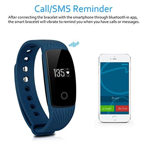 DIGGRO ID107 – Fitness Armband mit Herzfrequenz Sensor (OLED Display, Smart Armband Fitness Tracker mit Pulsmesser Aktivitätstracker Schrittzähler Schlafanalyse Kalorienzähler für ios Android) - 3