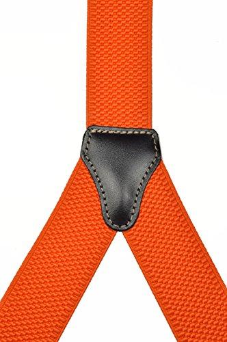 Bretelles pour Boutons avec Cuir Naturel, 3.5cm Orange (Classique)