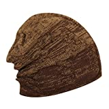 FabSeasons WC62 Acrylic Skull Cap, Free Size (Brown)