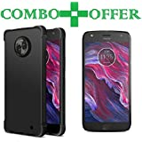 Moto X4, Tempered Glass, Back Cover, (Combo Offer Pudding) Premium Real Perfact Fit 2.5D 9H Anti-Fingerprints & Oil Stains Coating Hardness Screen Protector Guard For Motorola Moto X4