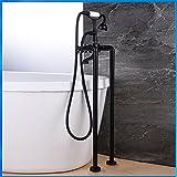 Bijjaladeva Wasserfall Mischbatterie Armatur Waschbeckenarmatur für BadezimmerAntike - Messing - freistehende Badewanne Armatur Dual-in-Wasseranschluß High End Dusche Wasserhahn