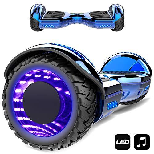 Kategorie <b>Zweirad E-Board (Hoverboard) </b> - MARKBOARD Hoverboard,Elektro Scooter 6,5 LED Elektro Scooter E-Balance E-Skateboard Elektroroller Bluetooth LED (Blau1)