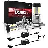 FENNG 2X H7/H11 55W Xenon Style Lampen Halogen-Scheinwerferlampe, Xenon Look Lampen Weiss, Xenon Style Birnen Brenner, Halogen Xenon Lampen,H7+CANBUS