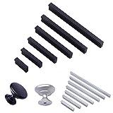 Angela-homestyle™ Aluminium Möbelgriff Relinggriffe Möbelgriffe Stangengriff Küchengriffe Türgriff Oxidation (96mm, Silber)