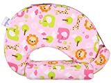 #5: MomToBe Pink Animal Feeding Pillow with front pocket - HD Foam 100% Cotton Fabric