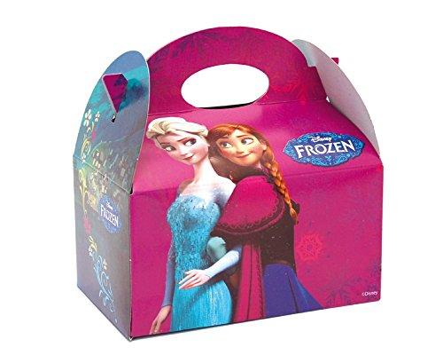 12x Disney Frozen Party Meal Box ~ Kinder, die Kinder tragen Food Geburtstag Party Beute Beutel Karton ~ Anna/Elsa/Sven/Olaf/Kristoff