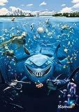Fototapete Kindertapete FINDET NEMO 184x254 süsse Fische, Clownfische und Haie, Disney Cartoon