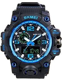 Hiwatch Relojes Deportivos Impermeable para los Hombres Reloj de Pulsera Digital a Prueba de Agua con Gran Esfera Negro