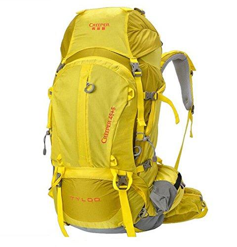 spalla sacchetto di alpinismo zaino esterno autentica borsa da viaggio esterno zaino 50L Giallo