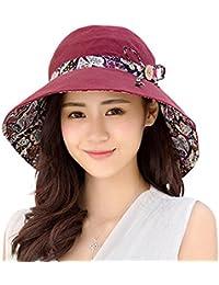 e4ea76218be Bluelans® Ladies Bucket Summer Sun Hat Foldable Beach Cap Wide Brim UV  Protection Reversible Packable