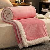 LITHAPP Bedsure Flauschige Wurfdecken Super Weiche Fleece Tagesdecke Luxus Flanell Mikrofaser Schlafsofa,Pink-200cm*230cm