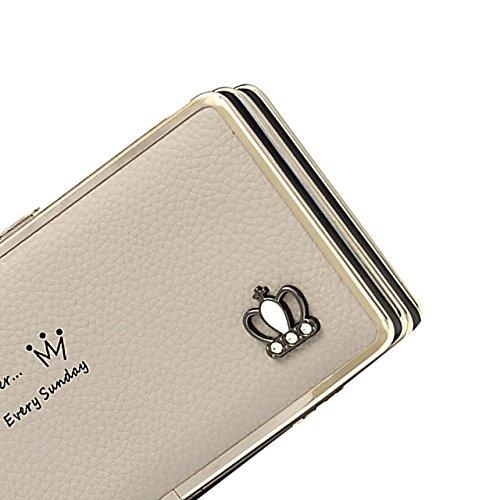 Housse Portefeuille Femme,Etui avec Bracelet Pochette Coque Case Cover Bumper Purse (avec fentes pour cartes) Grande Capacité de cire de Luxe en Cuir avec Couronne de Bling Wallet pour Sony Xperia XA1 Couleur 27