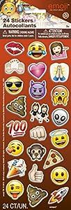 Pegatinas con caras de emoticones en relieve, paquete de 24