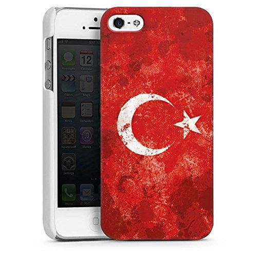 Apple iPhone 5s Housse Étui Protection Coque Türkiye Turquie Drapeau CasDur blanc