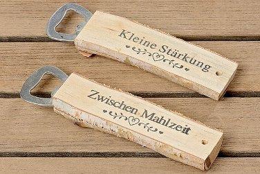 Flaschenöffner Kapselheber L15cm braun Holz/Metall Material:Birke+Metall/ lat.Betula (Kleine Stärkung)