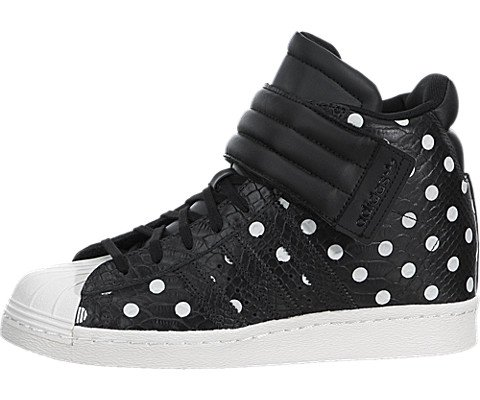 Womens Adidas Superstar Up Strap Wedge Shoes Carbon/core Black S81718 Size 9