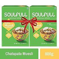 Soulfull Baked Desi Muesli, Chatpata Super Saver Pack- High in Fiber, 800g