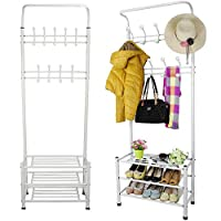 SWL-seller Metal Hat and Coat Stand Home Office Clothes Shoes Rack Umbrella Steel Stand new