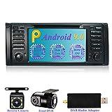Dimost Android 9.0 Autoradio 7' Bildschirm RAM 4G ROM 32G Car Radio mit Navi Moniceiver GPS Navigation für BMW X5 E53 Series/BMW 5 E39 Series (mit Kamera, DVR, DAB)